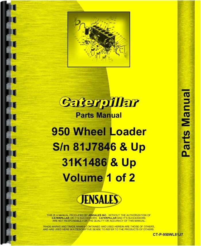Caterpillar 950 Wheel Loader Parts Manual (HTCT-P950WL81J7)