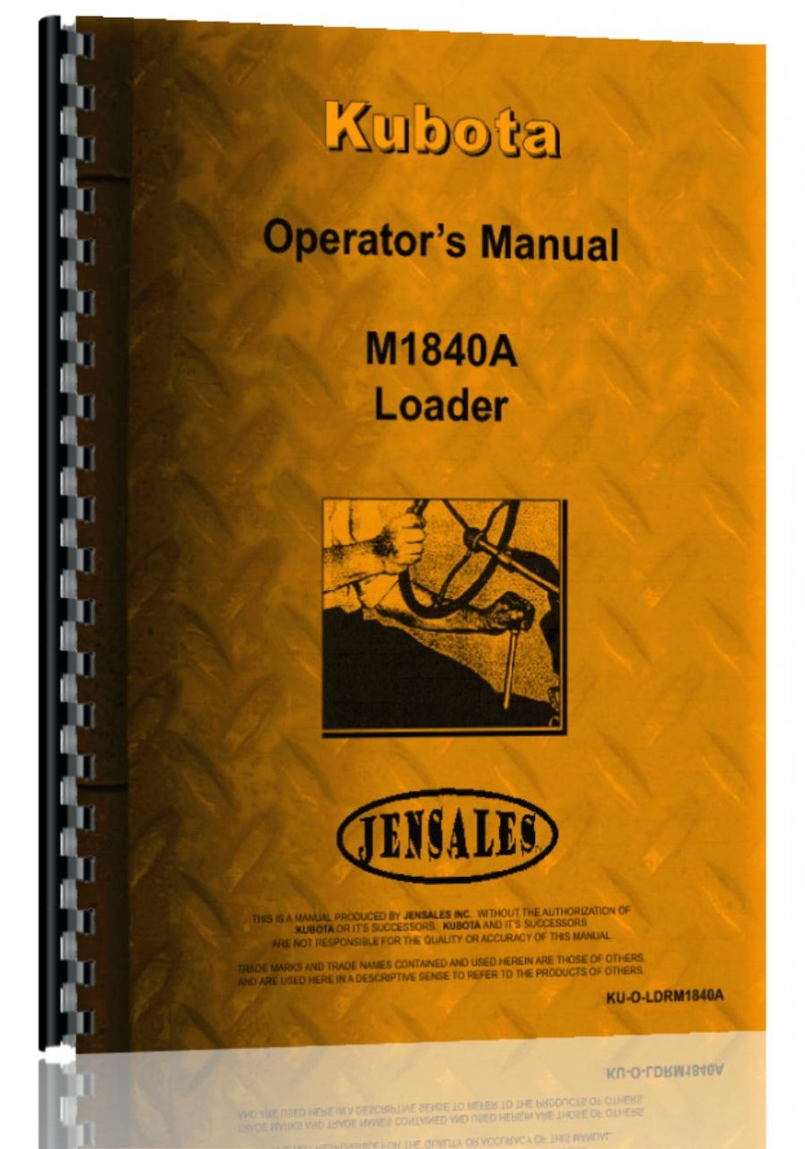 Kubota M1850A Loader Attachment for M6950 Tractor Operators Manual  (HTKU-OLDRM1840A)
