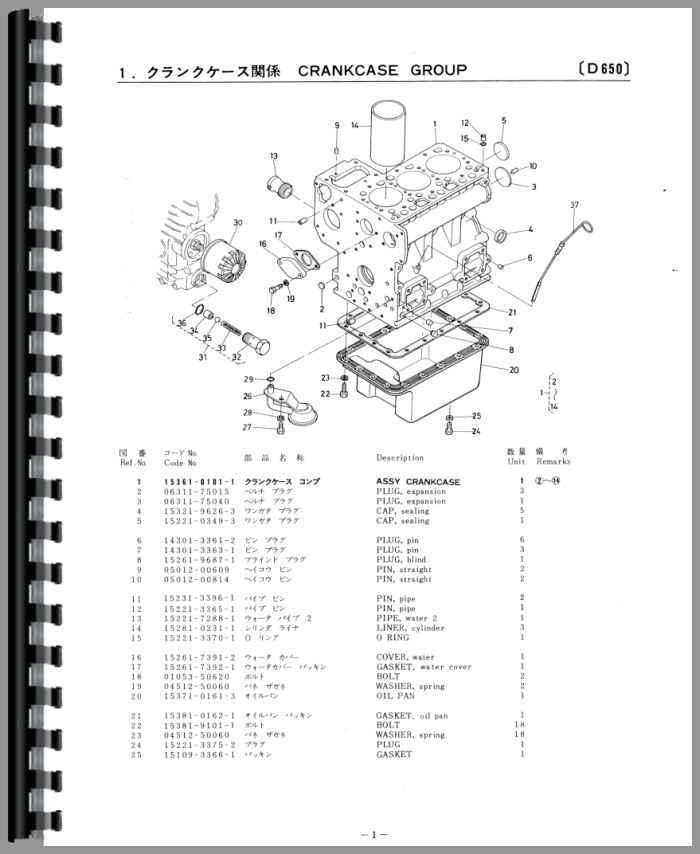 Kubota Parts manual v2203e