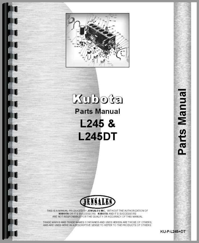 kubota l245 tractor parts manual (htku-pl245dt)