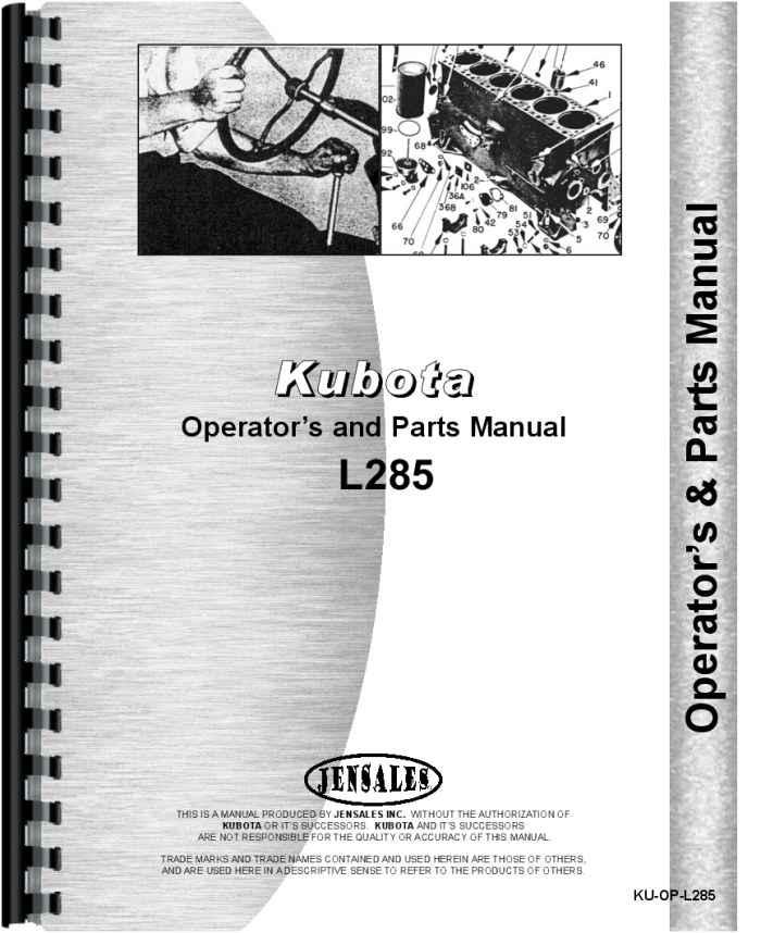 Tools & Home Improvement Kubota L285 Tractor Operators & Parts ...