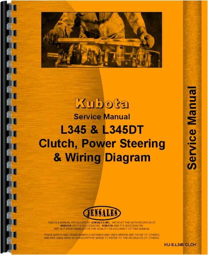 Kubota L345dt Clutch  Steering  Power Steering  Service