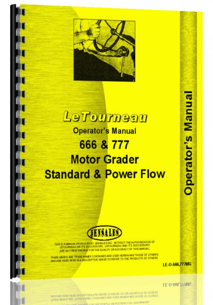 Le Tourneau 777 Std & Power Flow Operators Manual (HTLE-O666777MG)