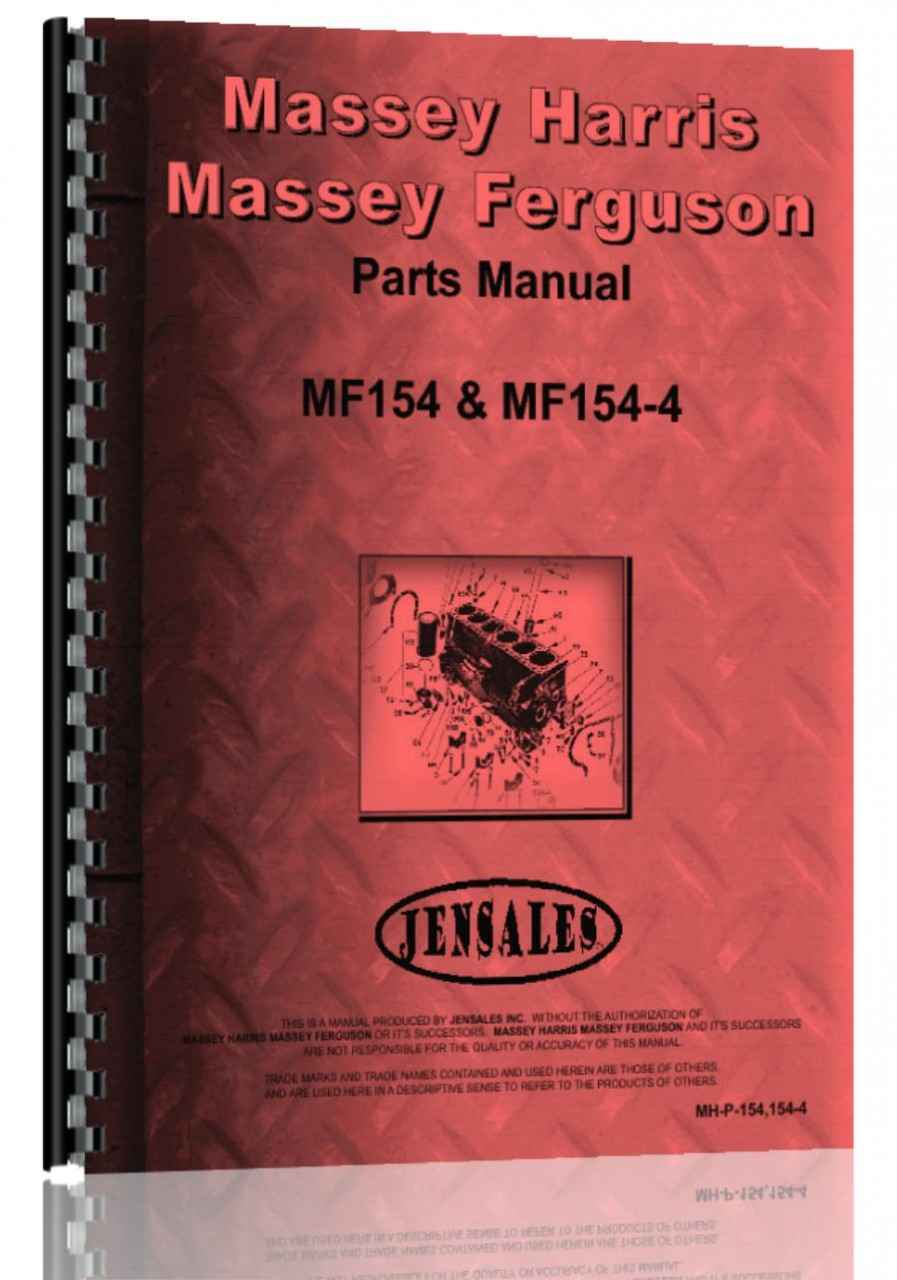 Massey Ferguson 154 Tractor Parts Manual (HTMH-P1541544)