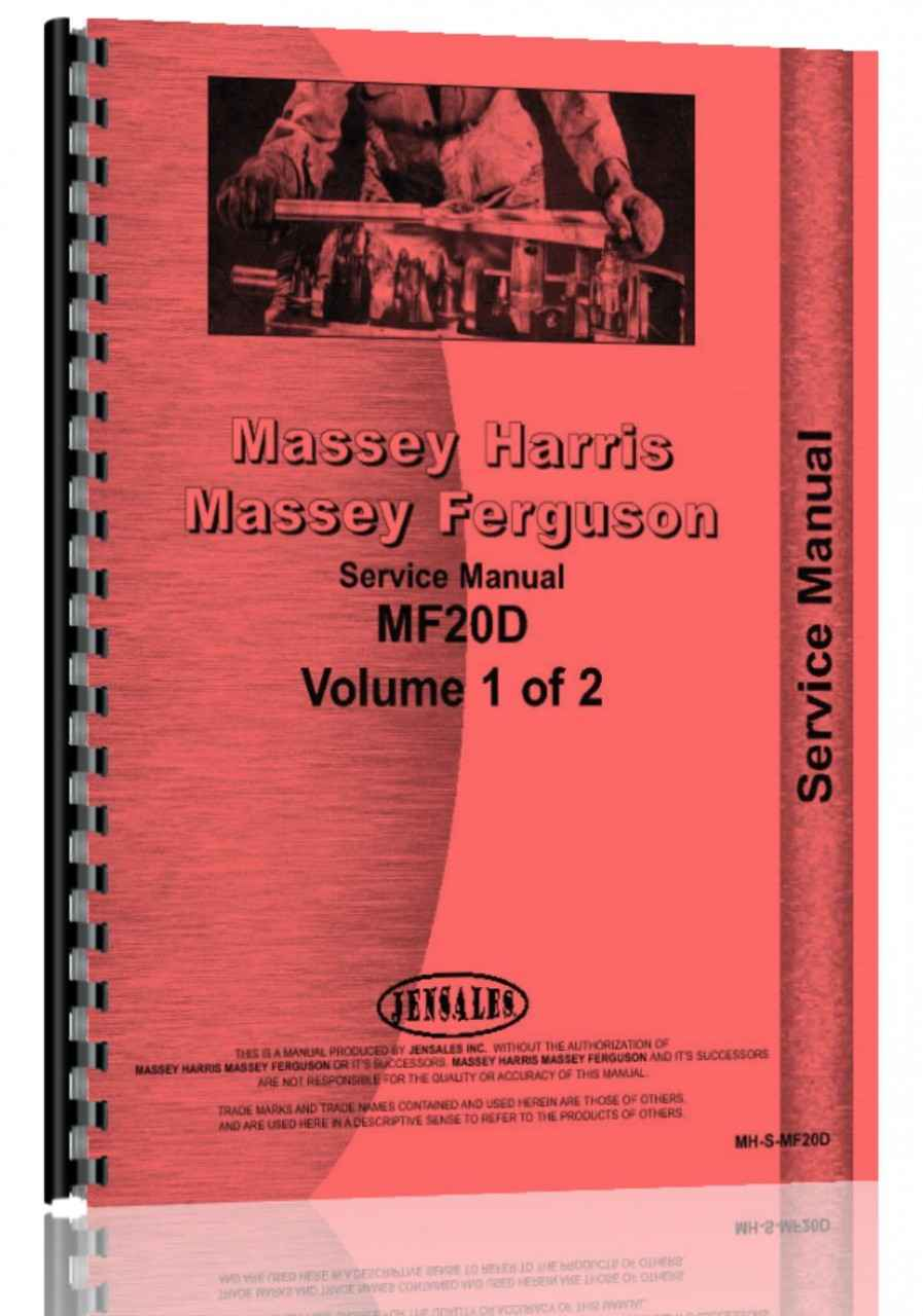 Massey Ferguson 20D Industrial Tractor Service Manual (HTMH-SMF20D)