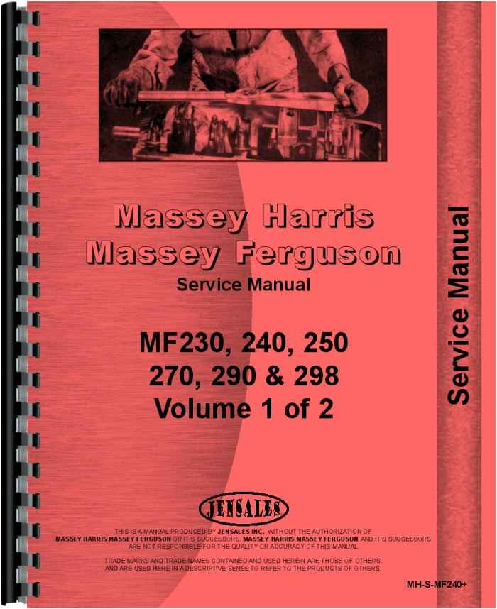 massey ferguson 240 tractor service manual (htmh-smf240)