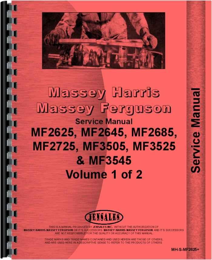Massey Ferguson 3525 Tractor Service Manual
