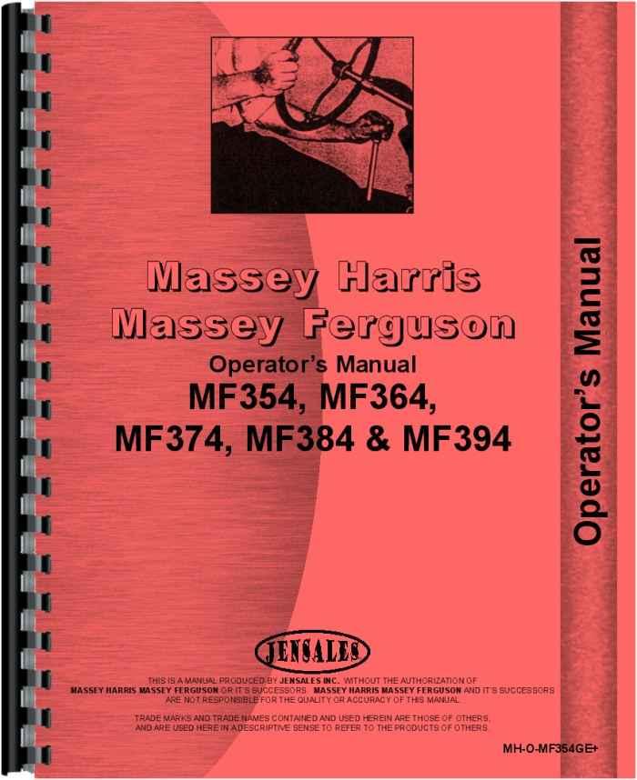 Massey Ferguson 394S Tractor Operators Manual Patio, Lawn & Garden ...