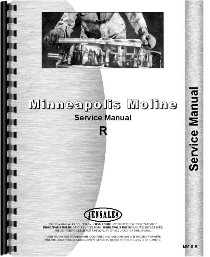 IT Shop Minneapolis Moline RTU Tractor Service Manual