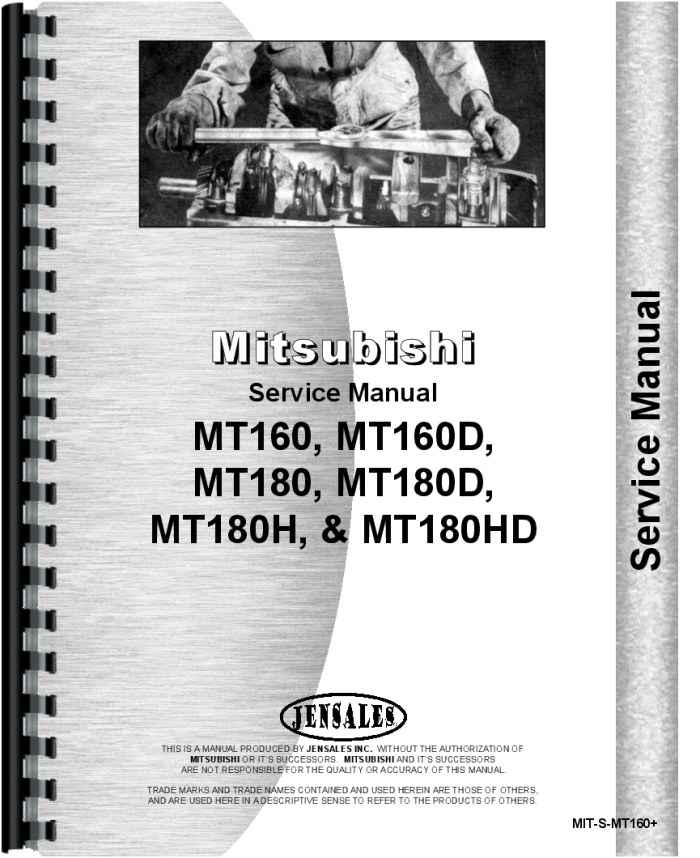 Mitsubishi Mt180d Tractor Service Manual