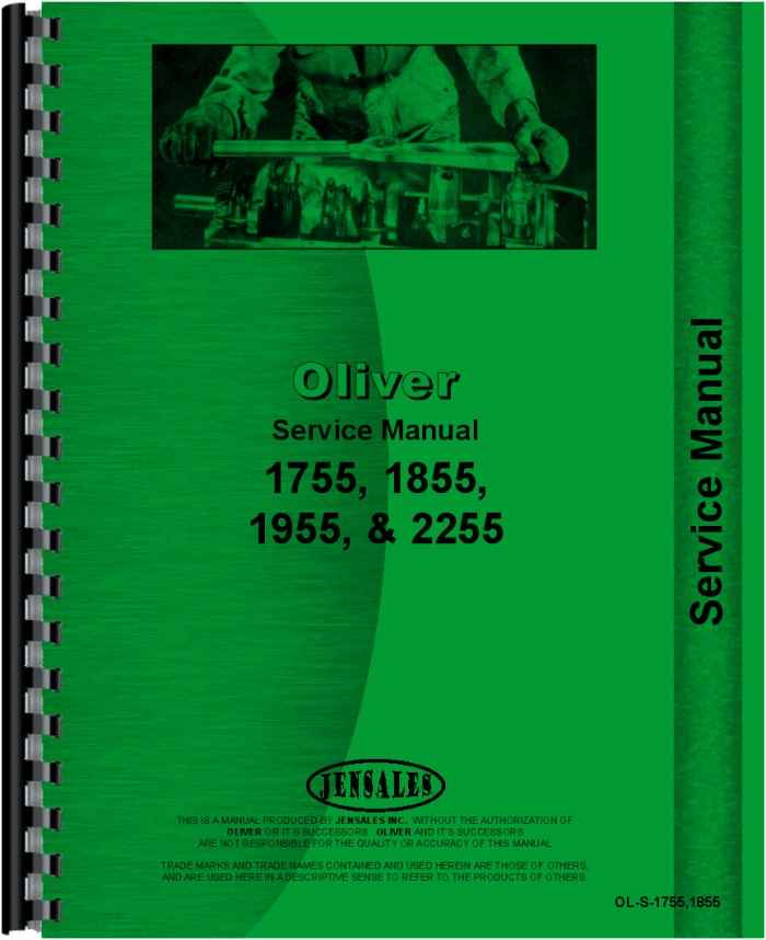 Oliver 1855 Tractor Service Manual (HTOL-S17551855) on