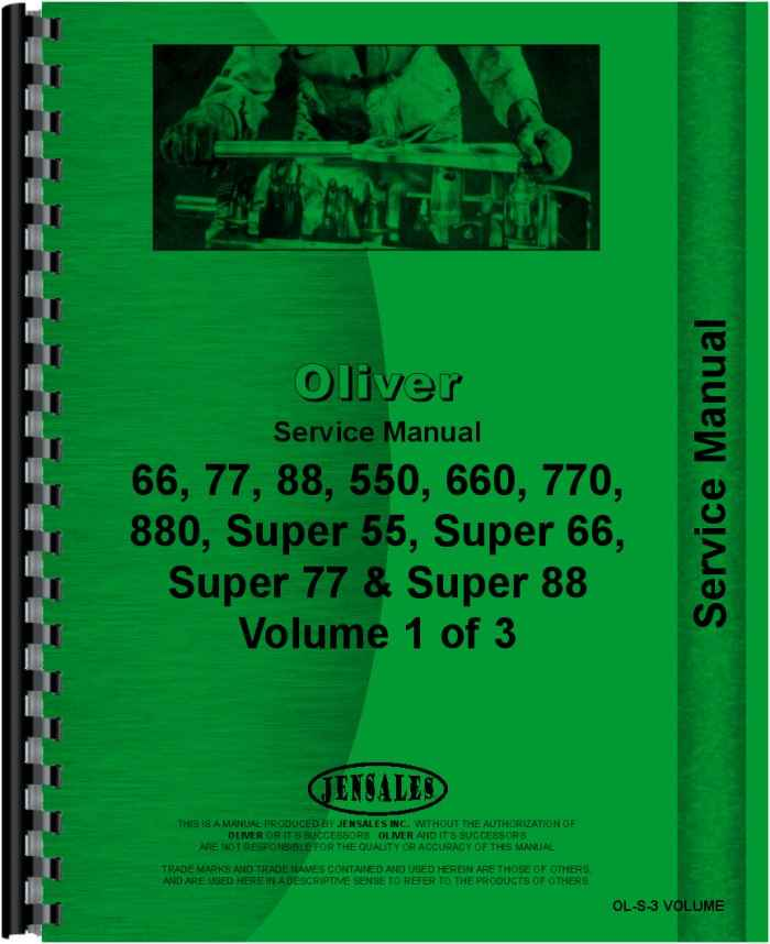 Oliver Super 66 Tractor Service Manual (HTOL-S3VOLUME) on