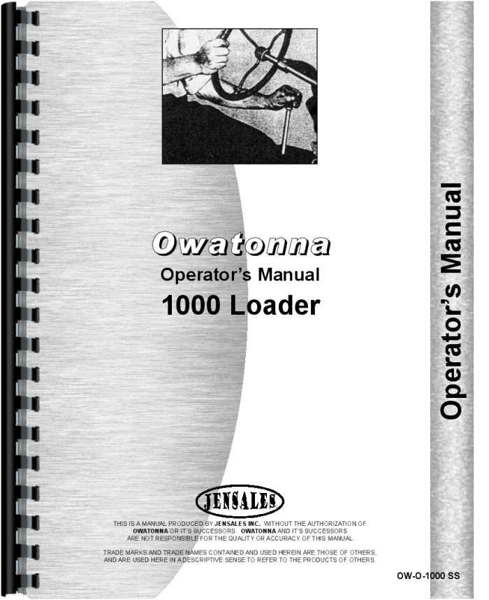 OMC Owatonna 1200 1220A Skid Steer Loader Operators Owners Manual