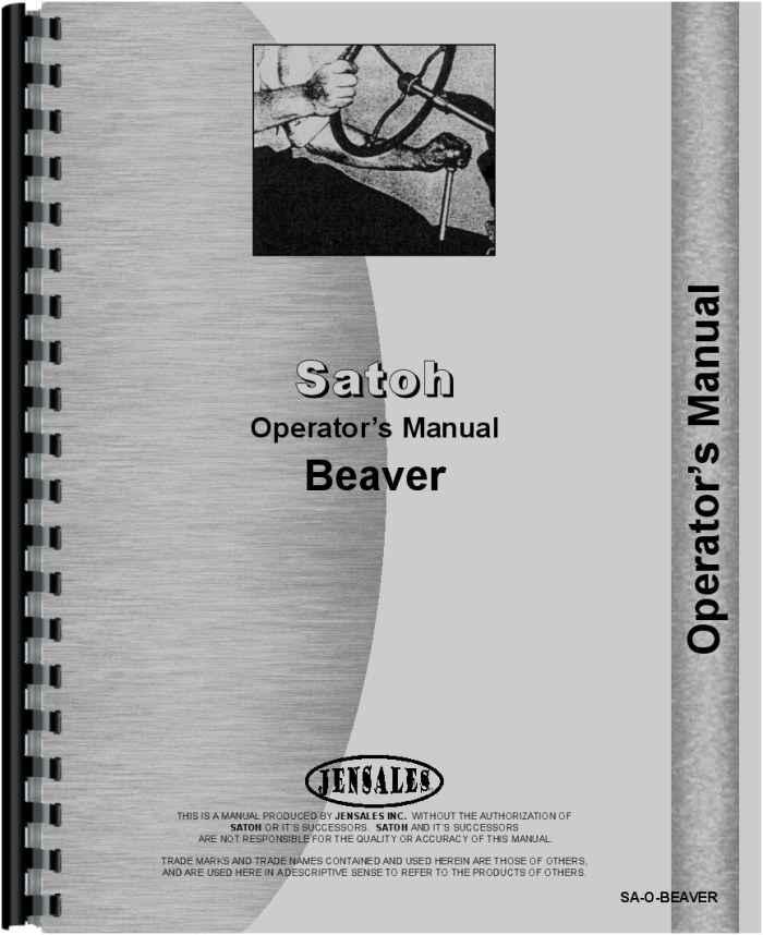 satoh s370 tractor operators manualsatoh s370 tractor operators manual (htsa obeaver)