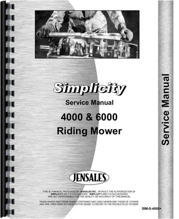Simplicity 4208 Lawn & Garden Tractor Service Manual (HTSI-MS4000)