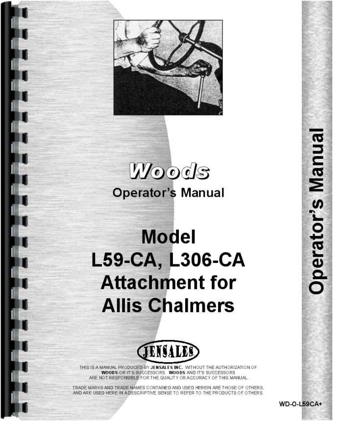 Woods L306 Mower Attachment Operators Manual HTWD OL59CA
