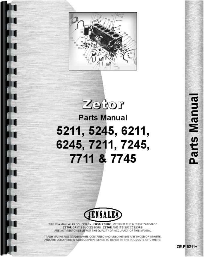 zetor 7245 tractor parts manualzetor 7245 tractor parts manual (htze p5211)