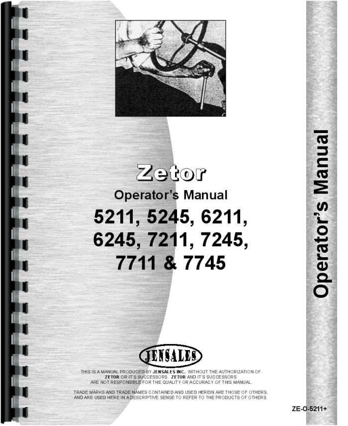 Zetor 7745 Tractor Operators Manual (HTZE-O5211)