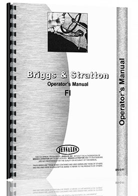 Briggs And Stratton FI Engine Operators Manual