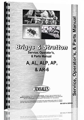 Briggs And Stratton A, AL, ALP, AP, AR-6 Engine Service Manual