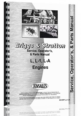 Briggs And Stratton L, L1 LA Engine Service Manual