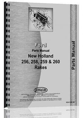 New Holland 256 Rake Parts Manual