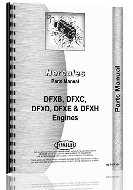Hercules Engines DFXE Engine Parts Manual