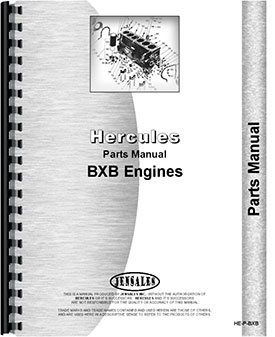 Hercules Engines BXB Engine Parts Manual
