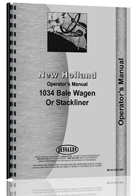 New Holland 1034 Bale Wagon Operators Manual