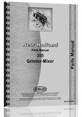 New Holland 355 Grinder Mixer Parts Manual