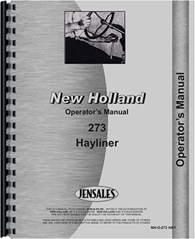 New Holland 273 Baler Operators Manual