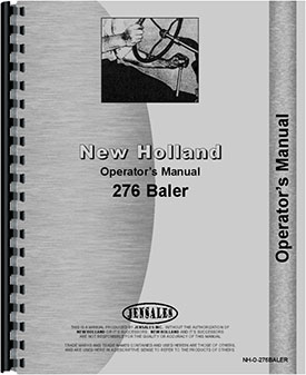 New Holland 276 Baler Operators Manual
