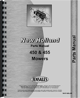 New Holland 455 Sickle Bar Mower Parts Manual