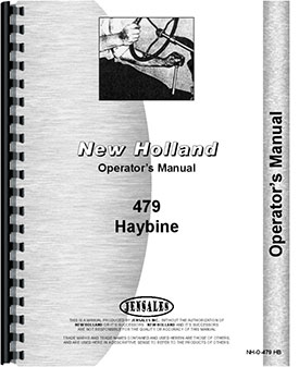 New Holland 479 Haybine Operators Manual