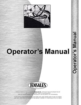 New Holland 55 Rake Operators Manual